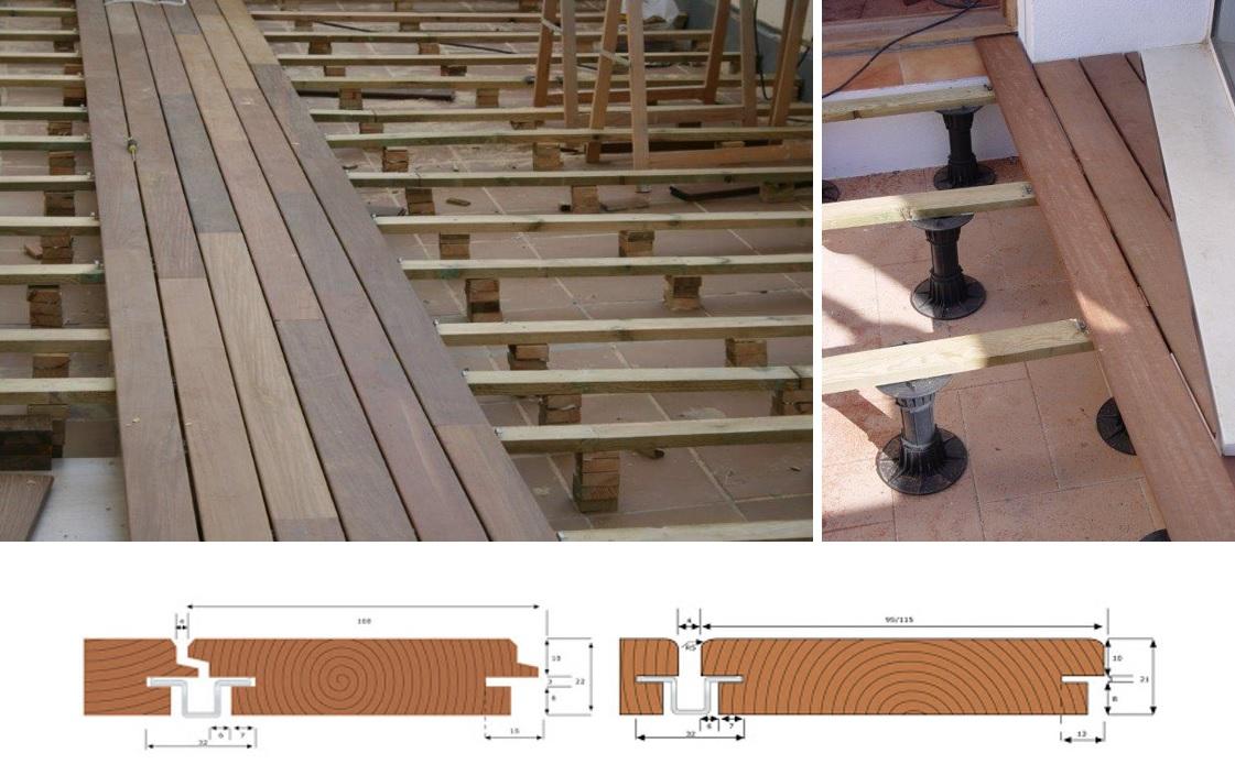 Suelos de madera de exterior tantas posibilidades como - Suelo tecnico exterior ...