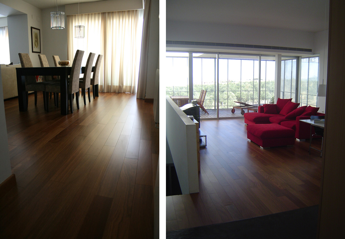 suelos de madera maciza de interior
