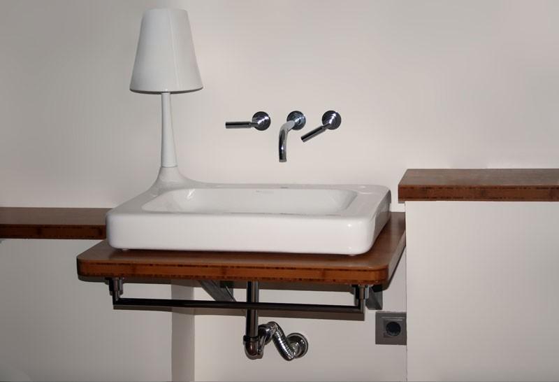 Diseño y fabricación de encimera de baño en bambú
