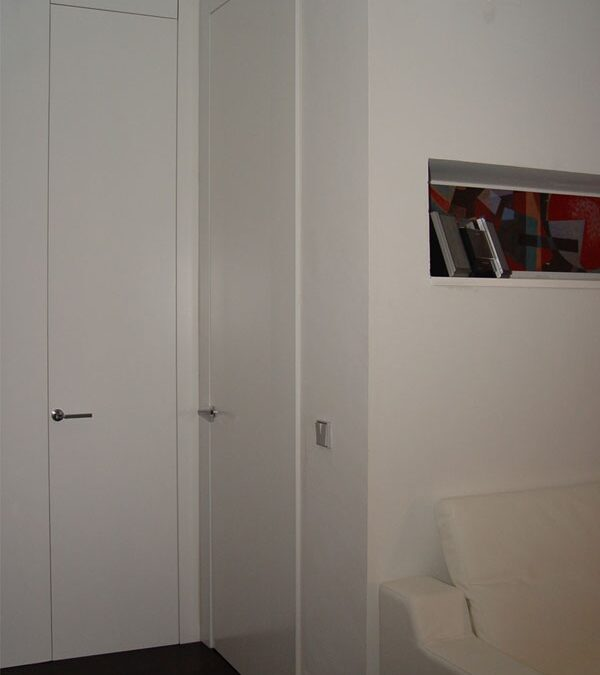 Custom made white lacquered doors
