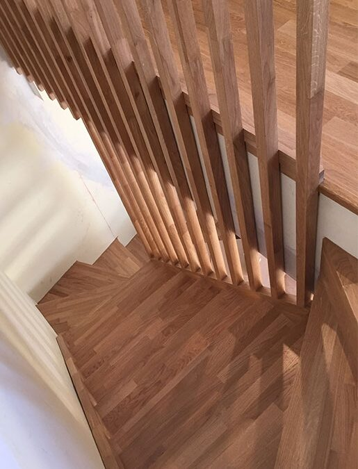 Design and manufacturing of oak bespoke staircase