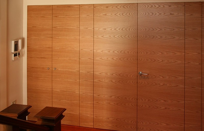 Wall paneling and doors made of american oak