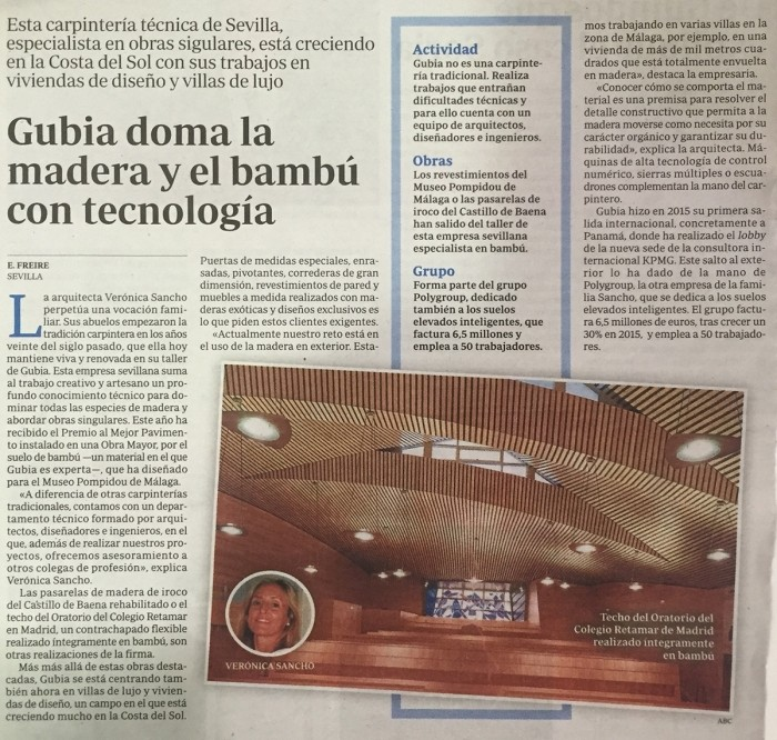 ABC mentions the work of Grupo GUBIA
