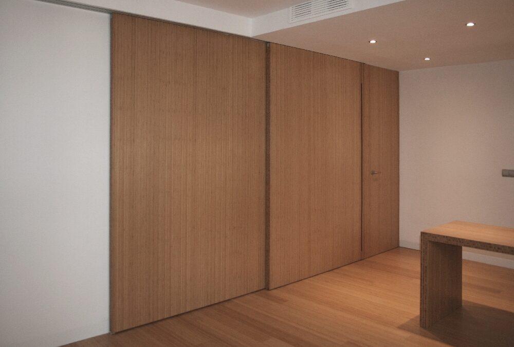 Puertas correderas de bambú de gran dimensión