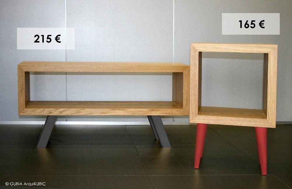 OFERTA: Muebles auxiliares de Roble