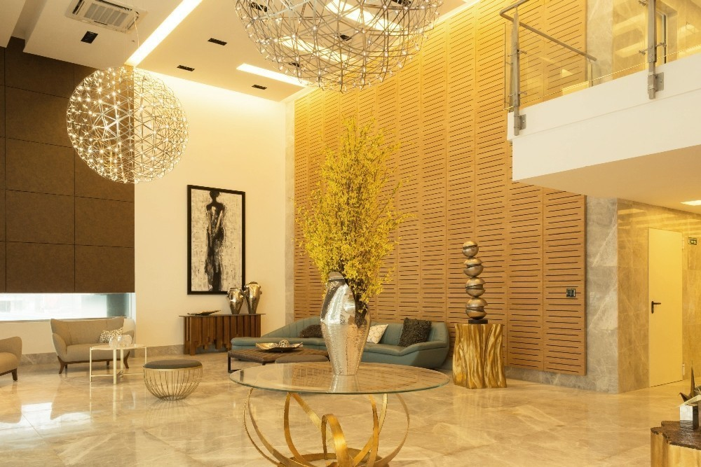 Acoustic wall paneling made of bamboo, grooved/ovoid perforations