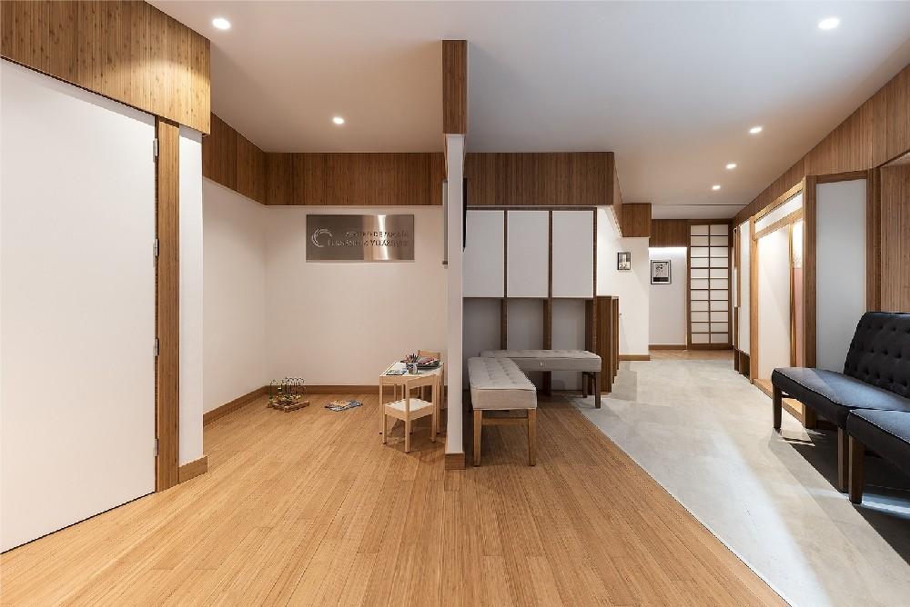 Revestimiento interior superior realizado en bambú al estilo Japonés