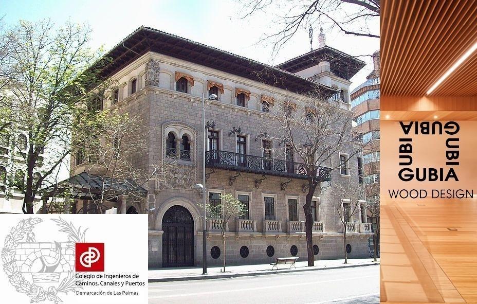 Bambú en el nuevo auditorio del Colegio de Ingenieros de Madrid