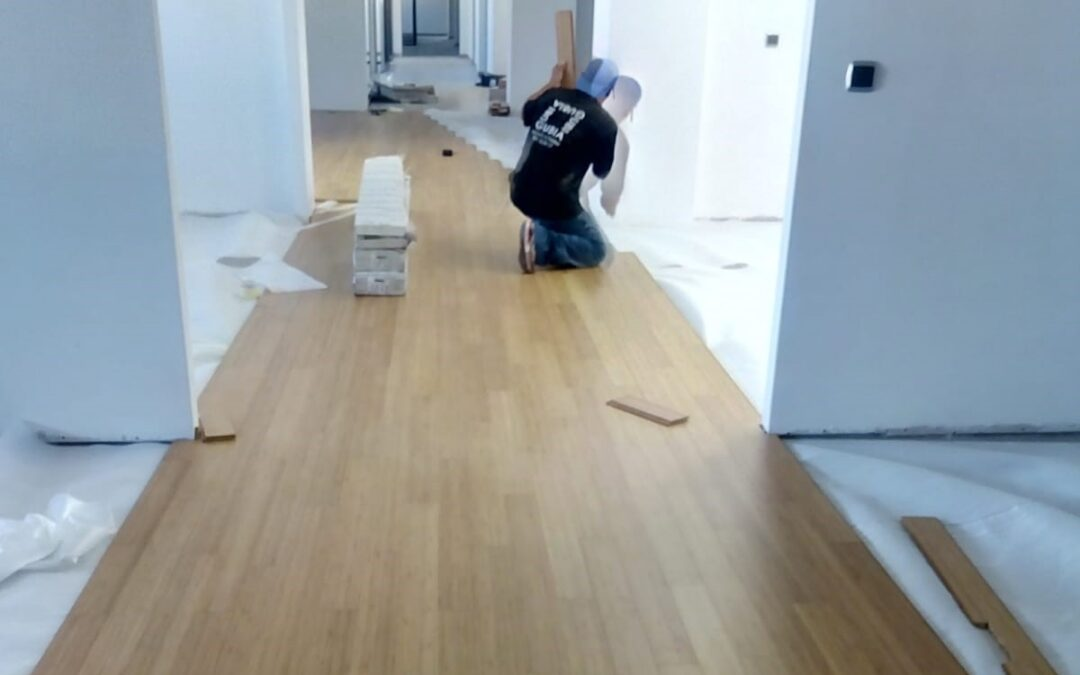 Solid bamboo flooring in Zurbarán Law Firm