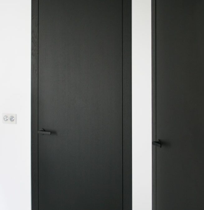 GUBIA minimal door system finished in wengue