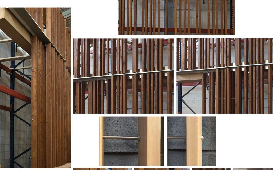 Inmersos en una fachada de madera termotratada PassivHaus