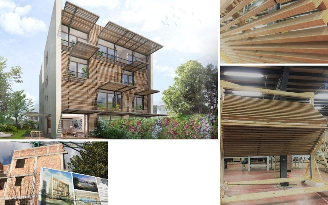 Gubia y Ohlab unidos en el diseño de una nueva fachada de madera