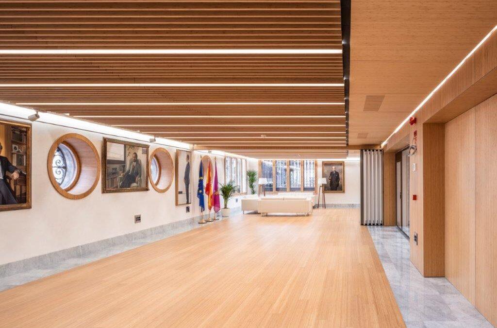 El bambú de Grupo GUBIA baña los espacios comunes del CICCP de Madrid